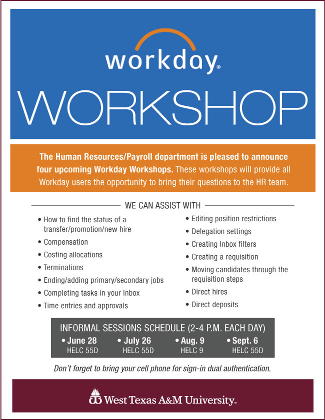 Workday Workshop