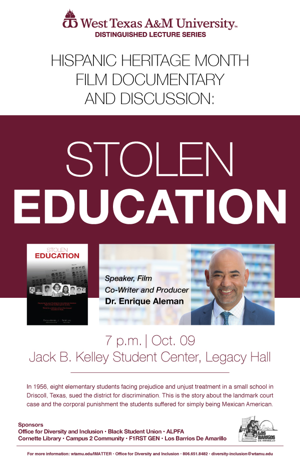Hispanic Heritage Month Film Documentary and Discussion: Stolen Education
