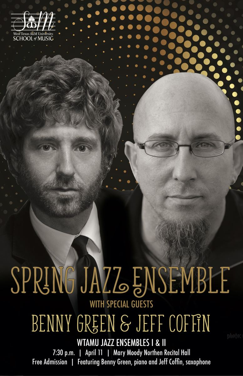 WTAMU Jazz Bands with Guests Jeff Coffin & Benny Green