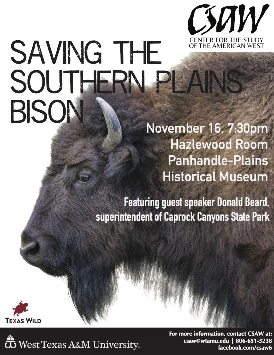 Saving the Southern Plains Bison