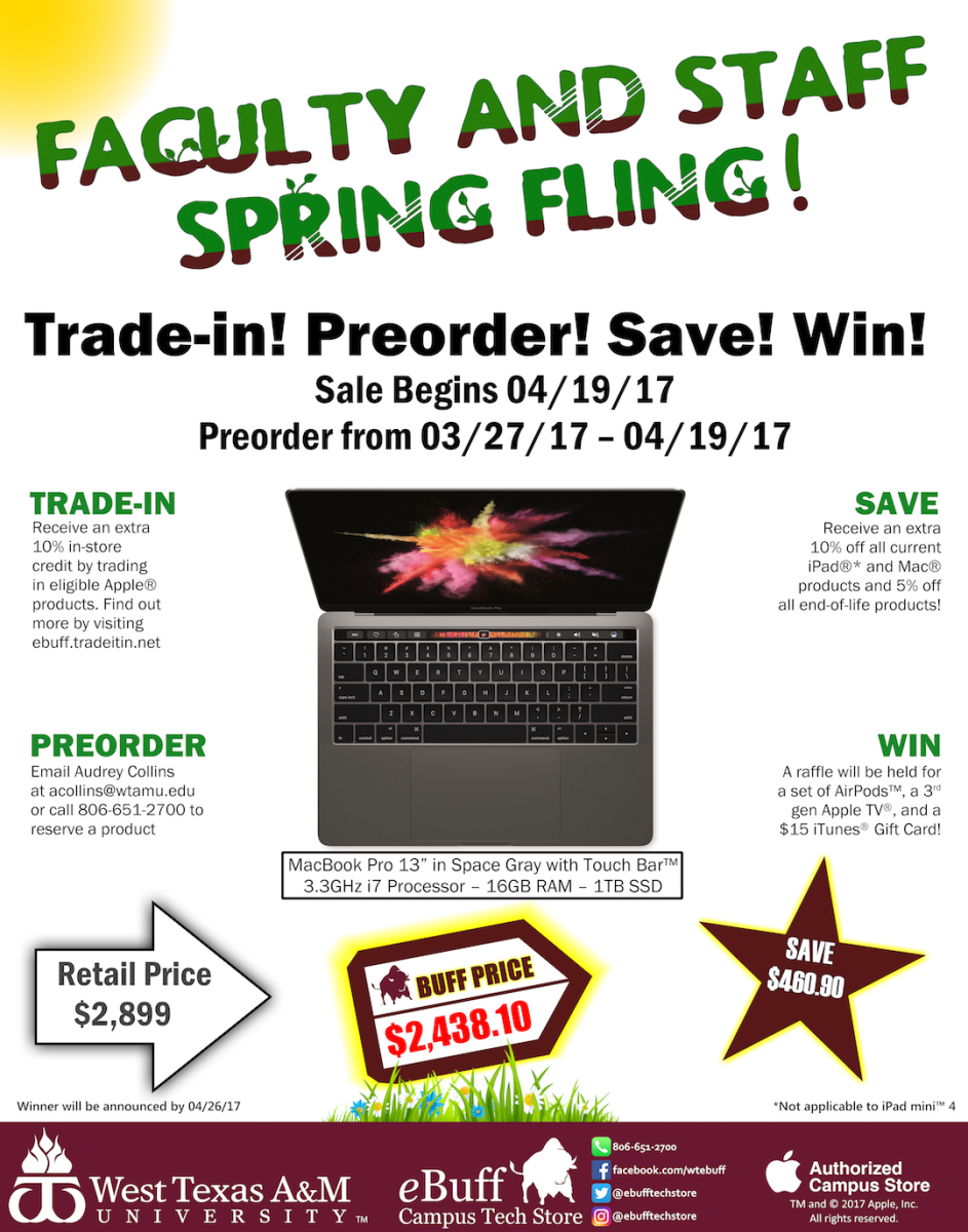 Faculty and Staff Spring Fling Sale