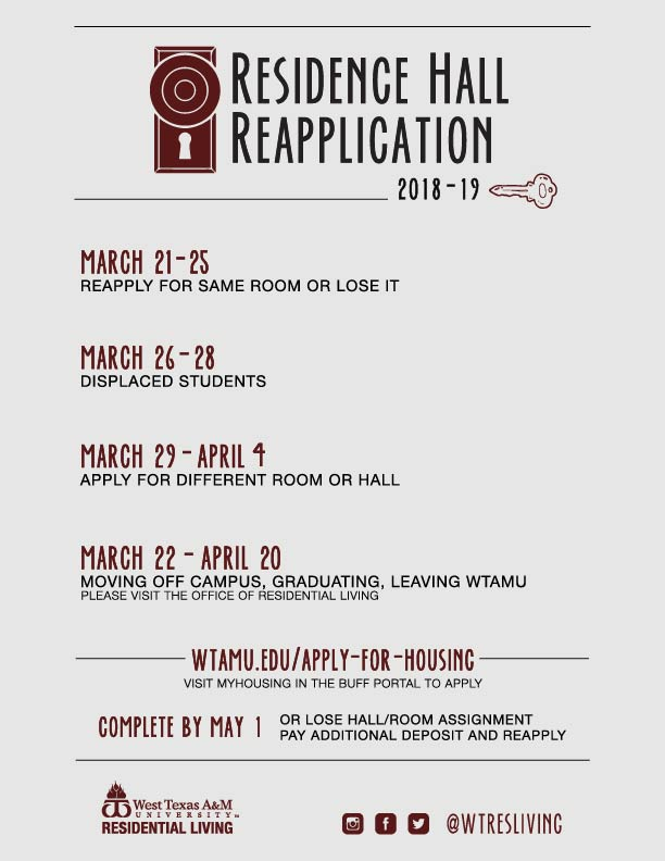 Residence Hall Reapplication