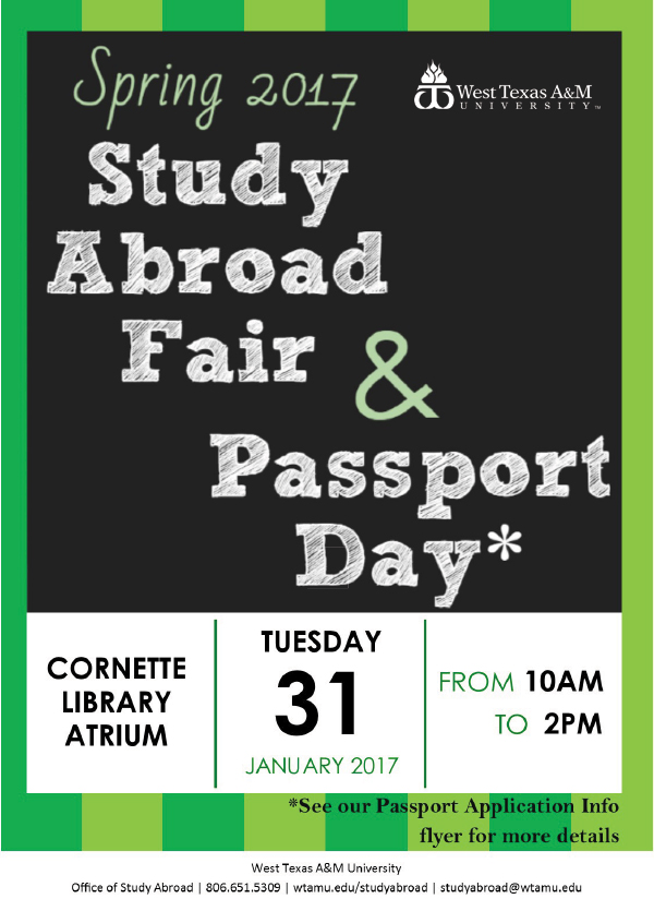 Study Abroad Fair & Passport Day