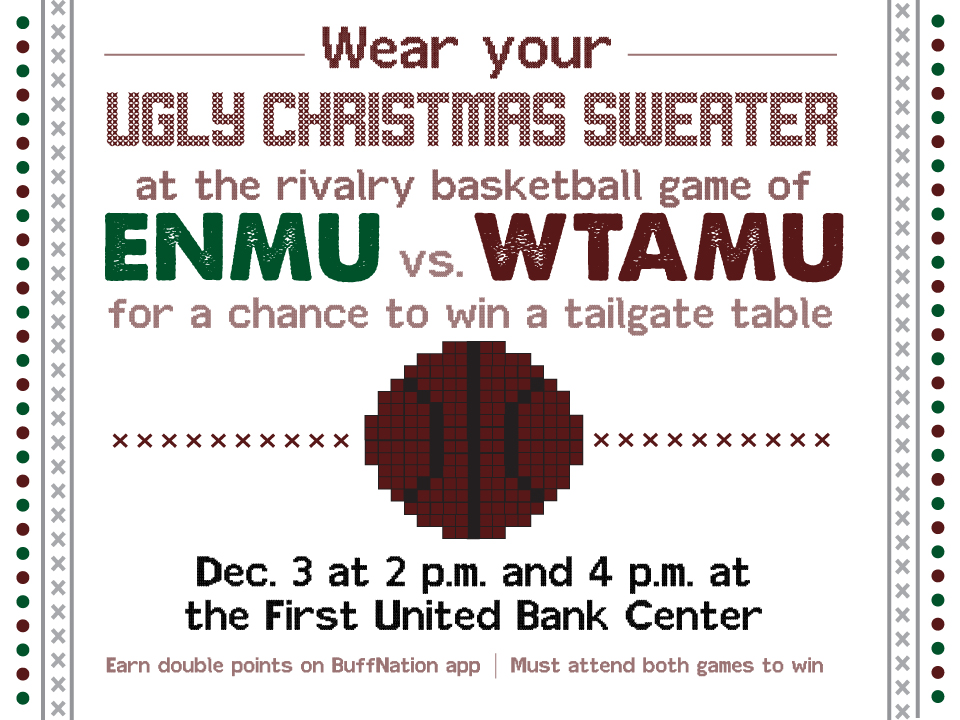 Ugly Christmas Sweater - Dec.3 - 2 p.m. and 4 p.m. - First United Bank Center