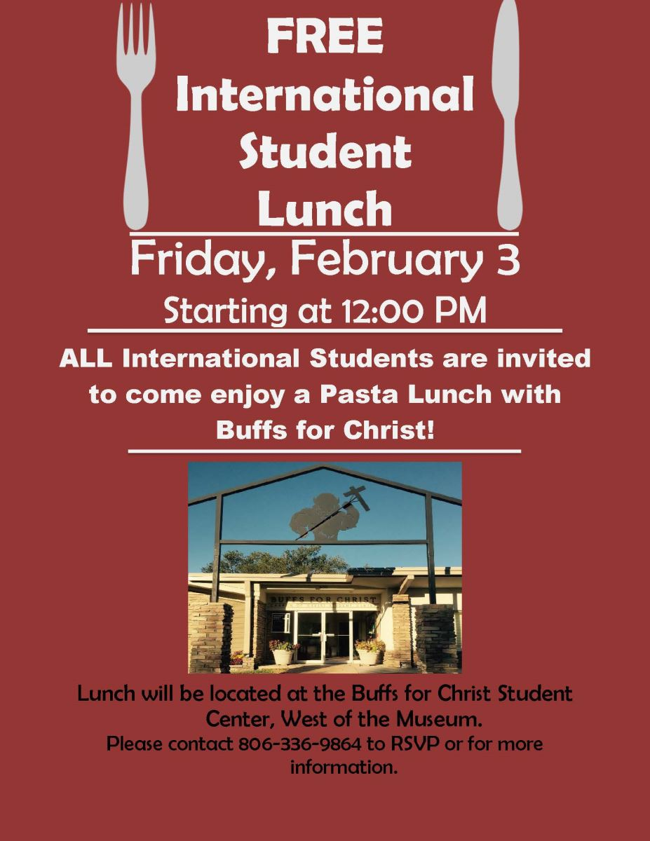buffs for christ pasta lunch