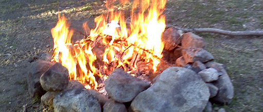 Image result for a campfire