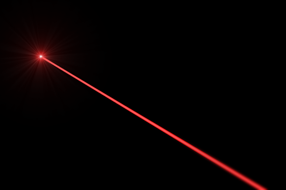 How do you focus regular light to make it a laser beam
